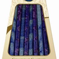 Lamp Lighters Ultimate Judaica Safed Chanukah Candles - 45 Pack - Blue/Purple - 6""