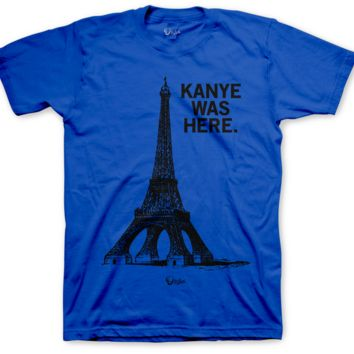 Jordan 2 Radio Raheem Kanye Was Here Blue T Shirt