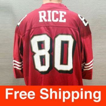 DCCKWV6 Vintage Jersey, Football, Jerry Rice Jersey, San Francisco 49ers, NFL, Nike, Size Adul