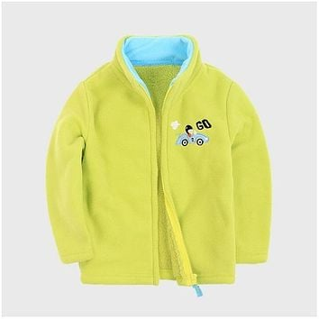 Brand New Autumn Winter Baby Coat Boys Girls Fleece Jacket Fashion Children Outerwear Kids Warm Clothing Multi Color
