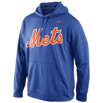 Nike New York Mets  Blended Wordmark Performance Hoodie - Royal Blue