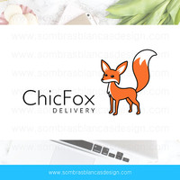 OOAK Premade Logo Design - Chic Fox - Perfect for a subscription box service or a retail shop
