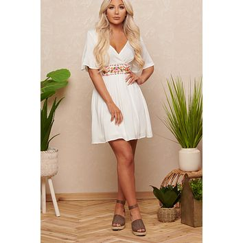Island Girl Dress (Off White)