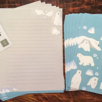 Japanese Polar Bear Stationery Set