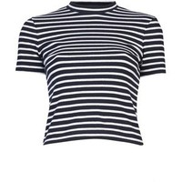 T BY ALEXANDER WANG Striped cotton top