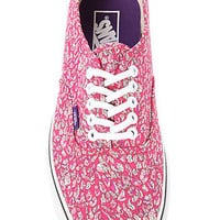 Vans x Liberty of London Authentic Sneaker in Leaves & Pink