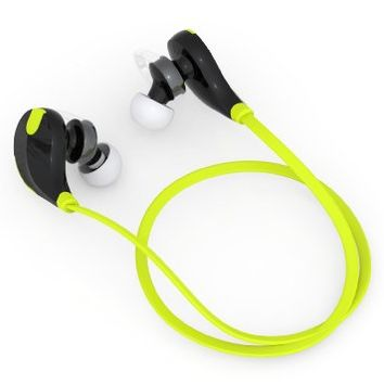 SoundPEATS QY7 V4.1 Bluetooth Mini Lightweight Wireless Stereo Sports Headphone - Black/Green