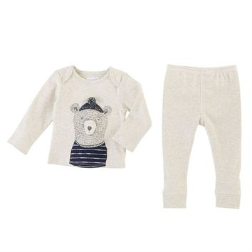 MUD PIE BEAR TWO-PIECE SET