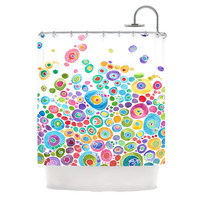"""Catherine Holcombe """"Inner Circle White"""" Shower Curtain, 69"""" x 70"""" - Outlet Item"""