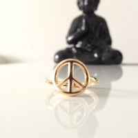 Peace Ring 14 Karat Gold Filled