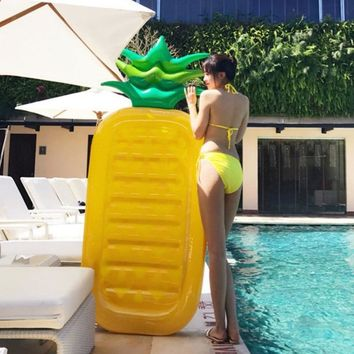 Swimming Pool Float Mattress Inflatable Pineapple Lounge Seat Raft Floating Bed Air Mat Water Floating Game Toy Summer Beach