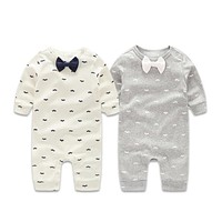 Baby Boys Clothing Sets Gentleman Spring Newborn Baby Clothes Long Sleeve Baby Boy Clothes Infant Jumpsuits