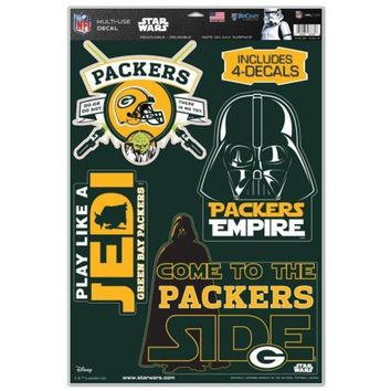 DCCKG8Q NFL Green Bay Packers Star Wars Multi-Use Decals