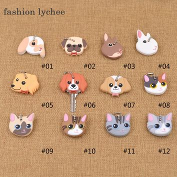 1 pc Soft Rubber Cat, Dog, Rabbit  Key Cover/Keychain 10 Styles
