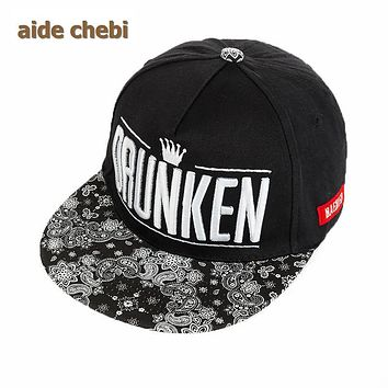 [aide chebi] 2017 men and women hip-hop cap recreational brand casquette skateboard flat brimmed hat hiphop cap letters snapback