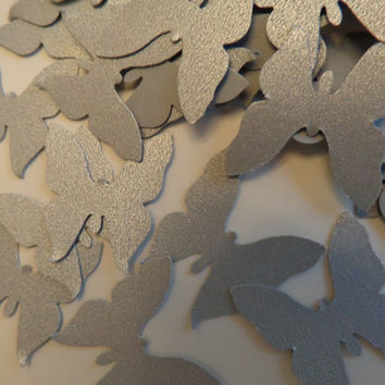 Silver Butterfly Confetti/Wedding Confetti/Small Paper Butterfly-Bridal Showers,Baby Showers  & Party Decorations-100 pieces