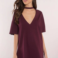 Mine Forever Plunging Neckline Tee Dress