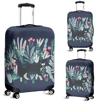 Plants & Cats Luggage Cover