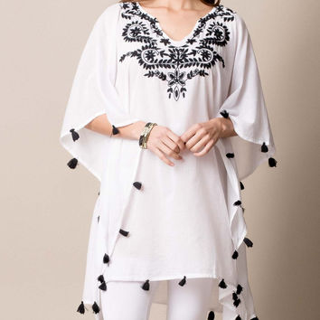 Pondicherry Poncho Black