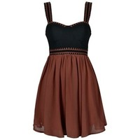 SKATER DRESS WITH EMB DETAIL