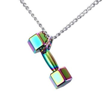 Dumbbell Fitness Fashion Necklace