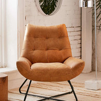 Seymour Leather Chair   Urban Outfitters