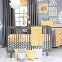 Sweet Potato Crib Bedding Set, Swizzle, 3 Piece