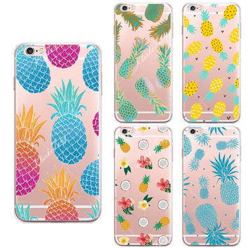 Large collection of pineapple mobile phone case for iphone 5 5s SE 6 6s 6 plus 6s plus + Nice gift box 072301