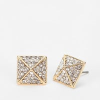 Urban Outfitters - Rhinestone Square Earring