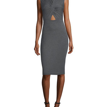 Bailey 44 Peekaboo Front-Twist Dress