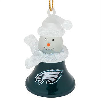 Philadelphia Eagles - Snowman Bell Ornament