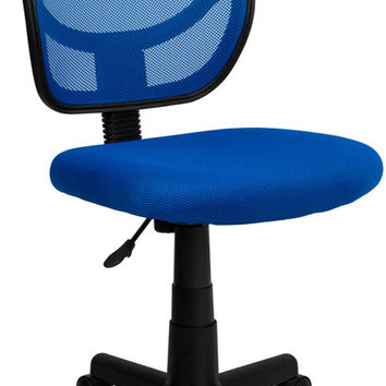 Mid-Back Blue Mesh Task Chair and Computer Chair