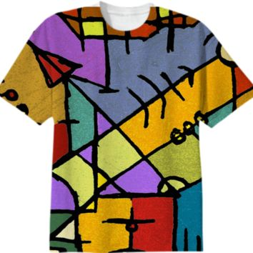 Multicolored Tribal Pattern Print All Over T-Shirt created by dflcprints | Print All Over Me
