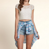La Jolla Lace Crop Top