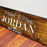 Rustic Five Year Anniversary gift for Girlfriend-Boyfriend-Husband- Wedding Sign- Fifth Wood Anniversary Gift for Men - Women