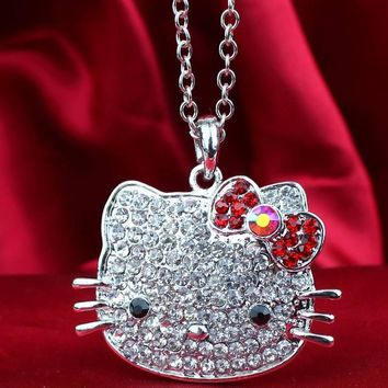 Siywina,Free Shipping,2017 Fashion hello kitty Pendant Necklaces,hello kitty mascot costume with free jewelry gift 1 pcs a lot