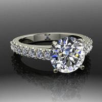 Forever Brilliant Moissanite and Diamond Engagement Ring 2.69 CTW