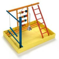 JW Pet Activitoys Wooden Play Gym - PetSupplies.com