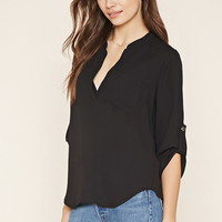 Contemporary Split-Neck Top