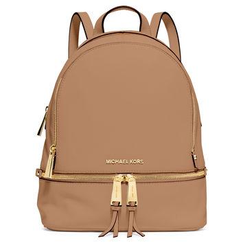 Rhea Small Zip Backpack, Peanut - MICHAEL Michael Kors