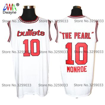 1973 Cheap Baltimore Mens Earl Monroe #10 The Pearl Jersey Vintage Throwback Basketball Jersey Free Shipping Sports Shirt