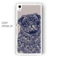 pug mandala for phone case Sony Xperia Z1/Z2/Z3