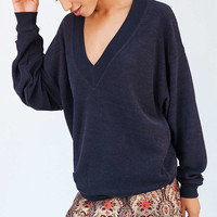 BDG Lisbeth Terry V-Neck Pullover Sweatshirt - Urban Outfitters