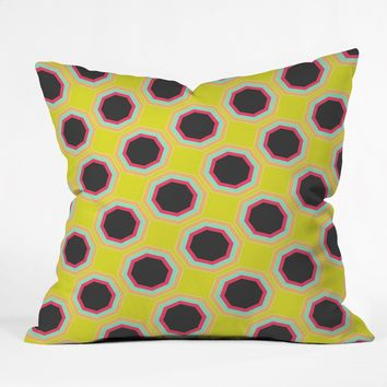 Allyson Johnson Neon Pattern Throw Pillow