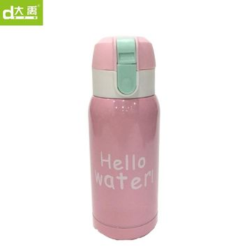 2017 hot pink  Stainless Steel Thermos Vacuum Flasks Kid's Thermal Insulation Water Bottle dayu