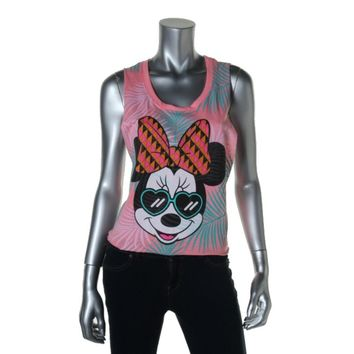 Disney Womens Juniors Graphic Sleeveless Tank Top
