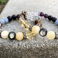 Audition bracelet, crystal healing, angel bracelet, angel cards, actor, actress bracelet, gift, girlfriend,friend,wife,daughter,Tigers eye