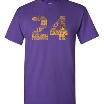 DCCKGQ8 lakers kobe bryant 24 shirt purple  number 1