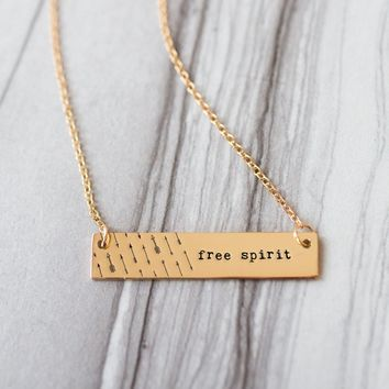 Free Spirit Gold / Silver Bar Necklace - Bridesmaid Gift