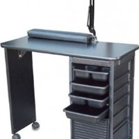 C119KD DLX Manicure Nail Table Black Laminated Top by Dina Meri
